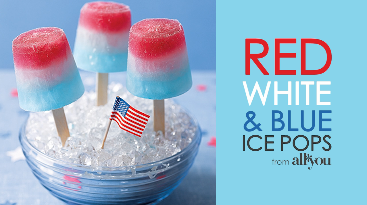 Red, White, and Blue Ice Pops