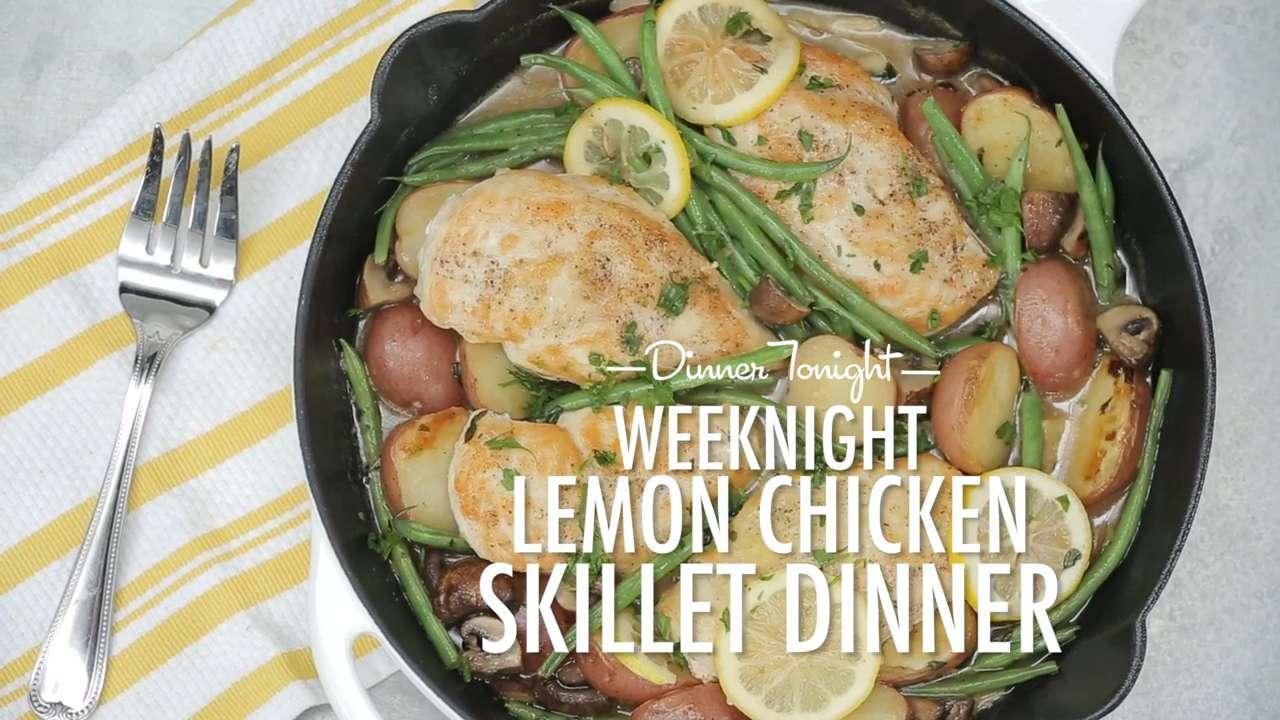 How to Make Weeknight Lemon Chicken Skillet Dinner