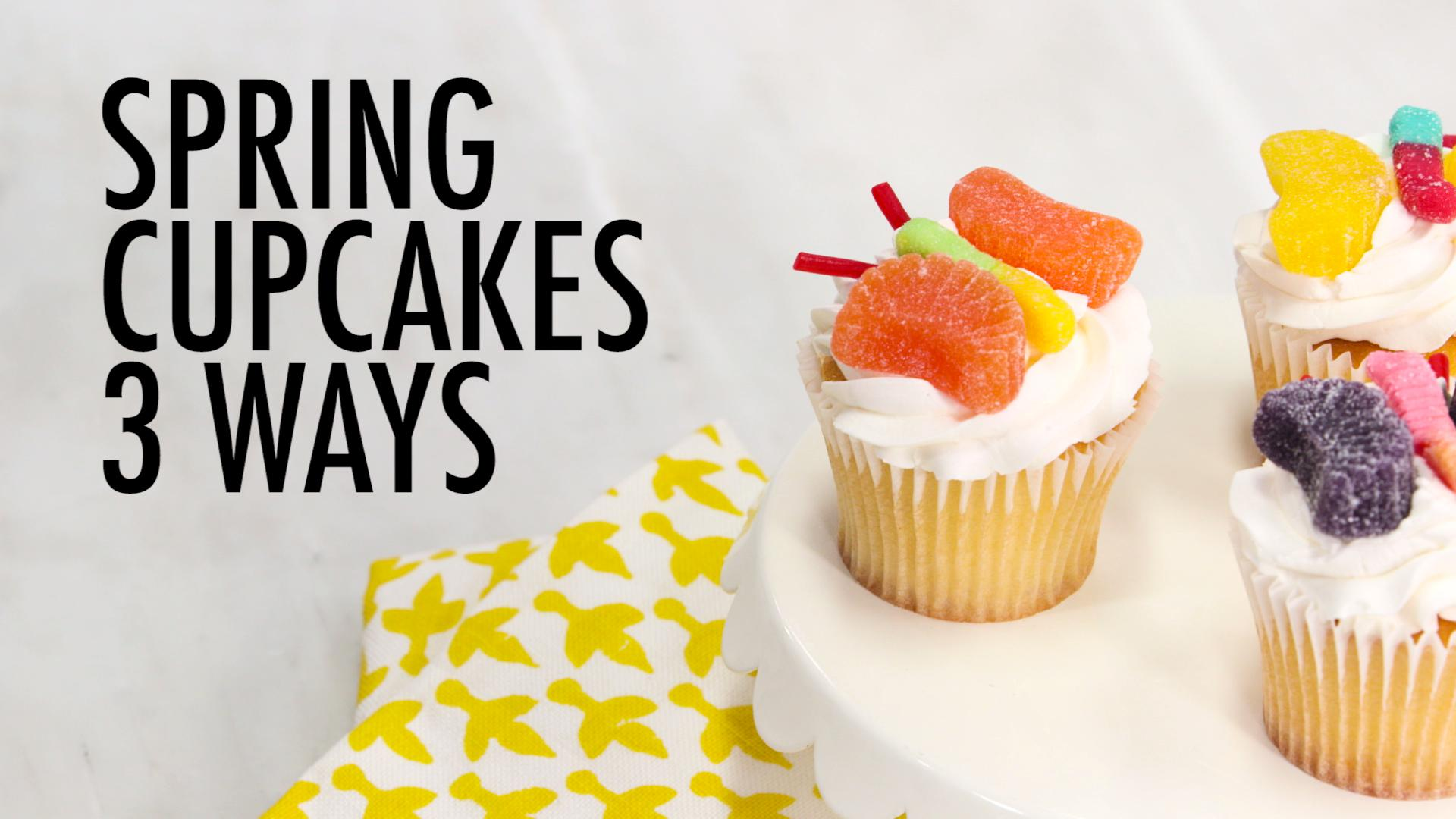 3 Sweet Spring Cupcake Ideas