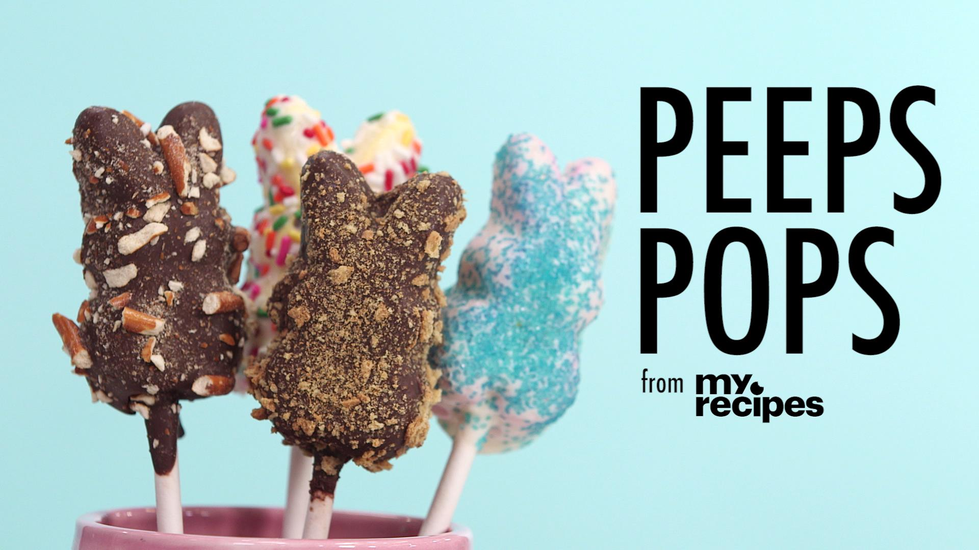 How To Make Easter Peeps Pops