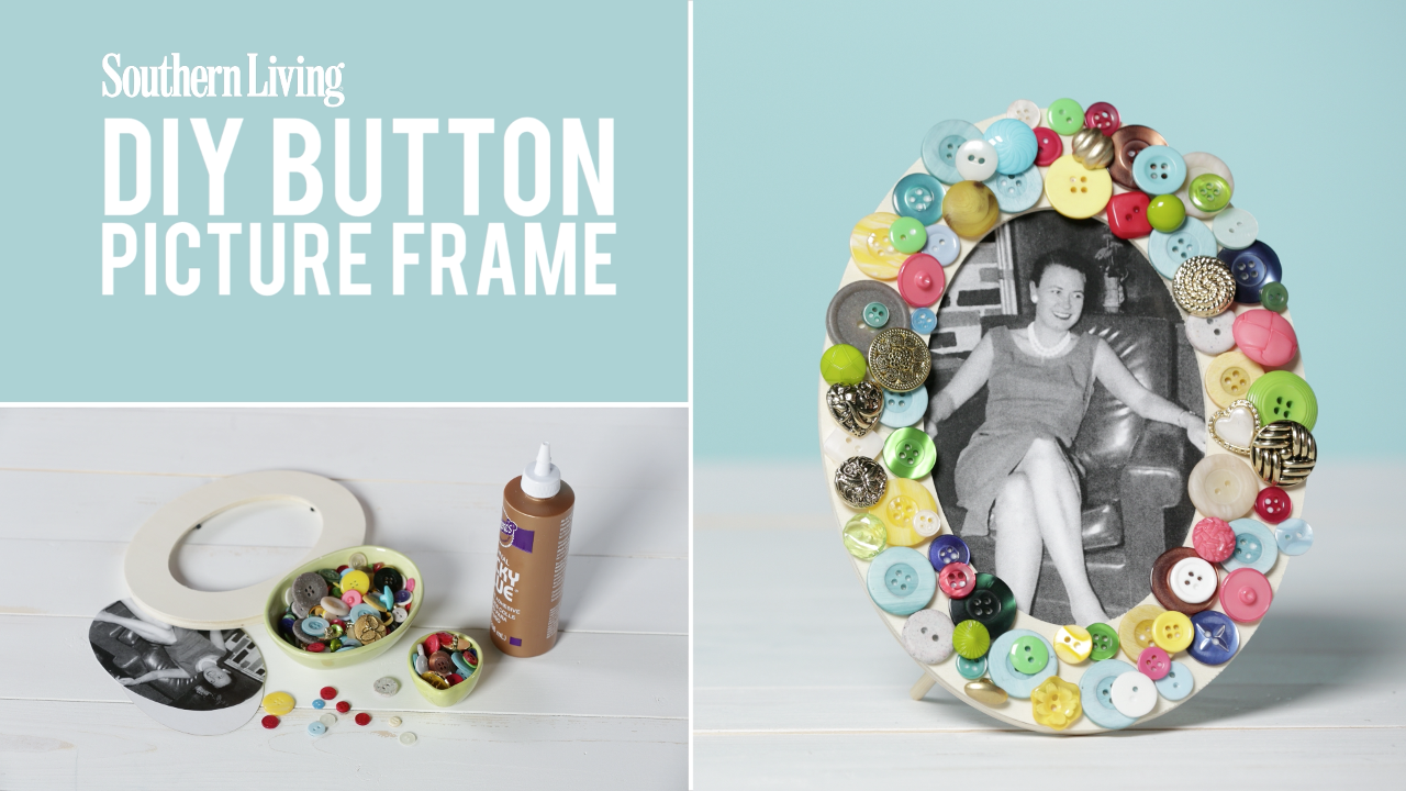 How To Make a Mother's Day DIY Button Picture Frame