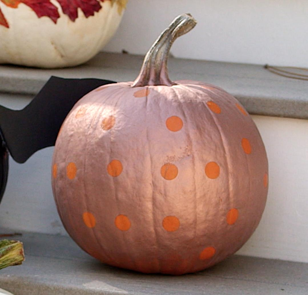 No-Carve Polka Dot Pumpkin