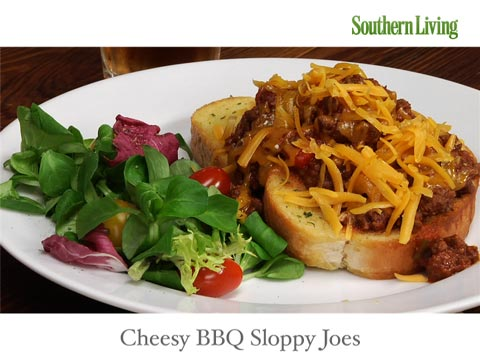 Quick-Fix Cheesy BBQ Sloppy Joes