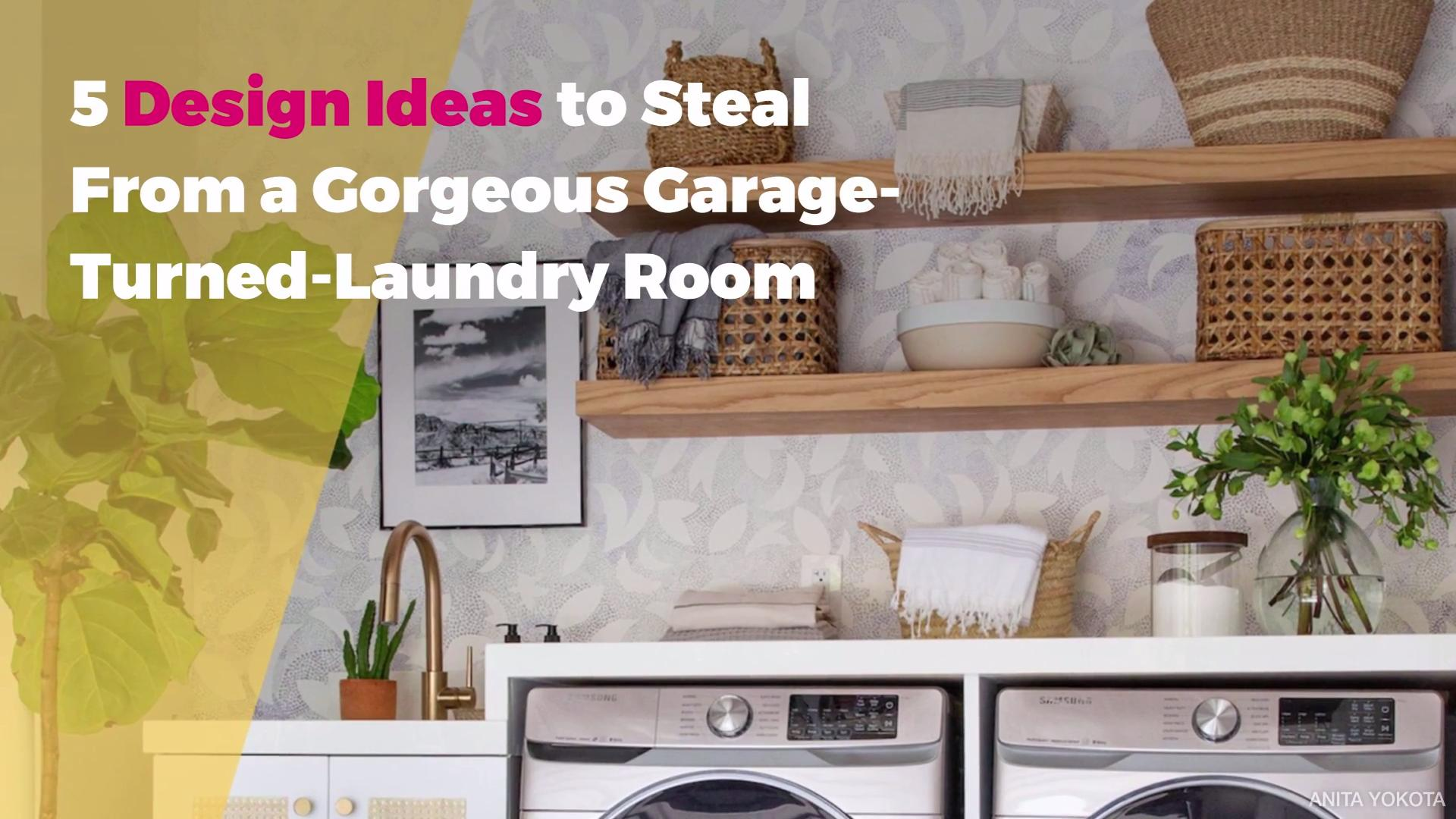 Design Ideas From A Gorgeous Garage Turned Laundry Room Real Simple