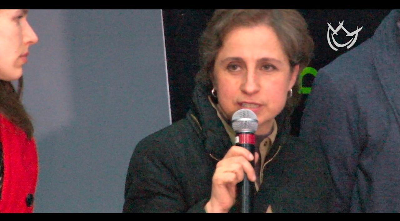 Carmen Aristegui respeta la postura de Karla Souza