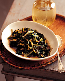 Braised Escarole with Currants