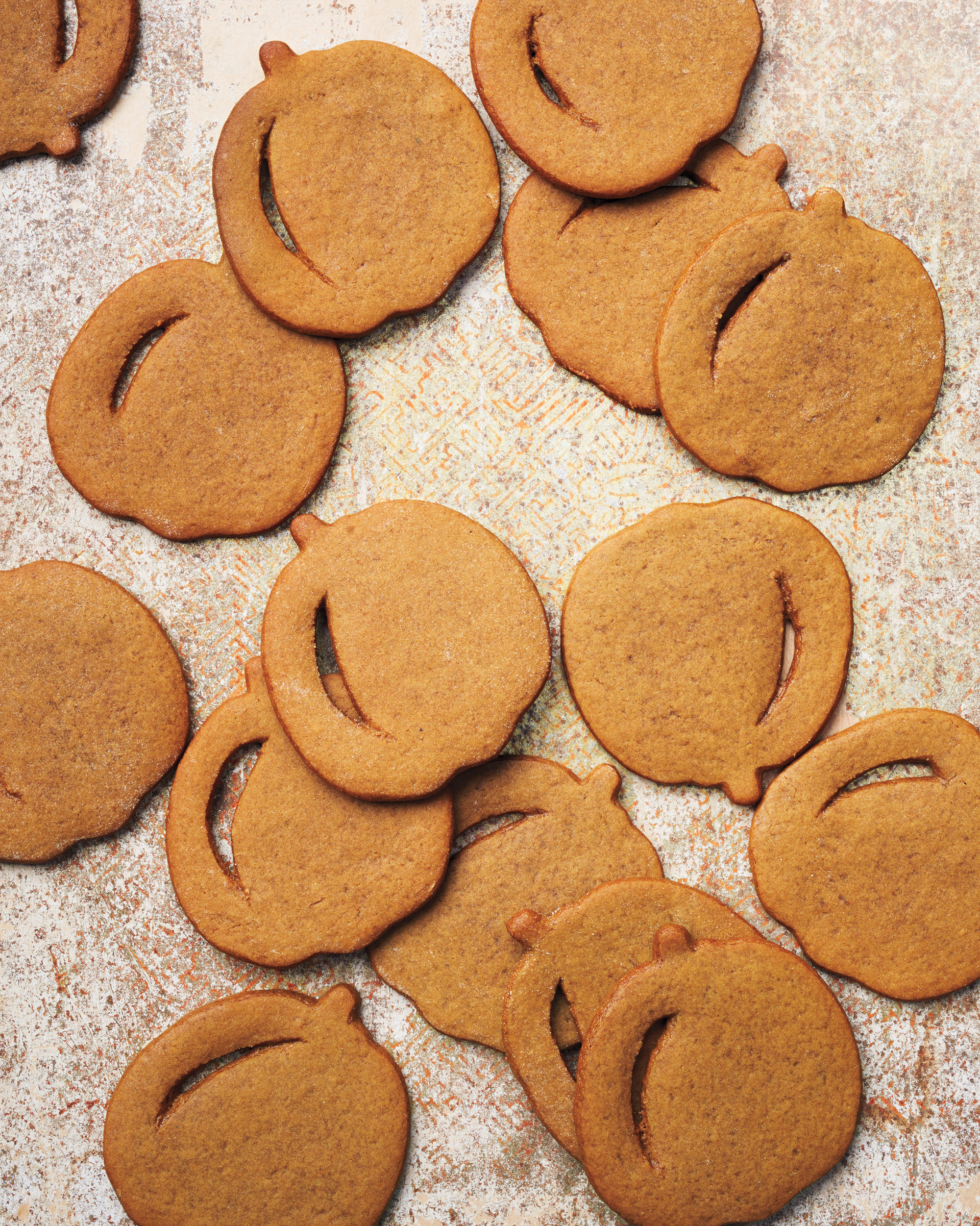Pumpkin-Shaped Molasses Spice Cookies