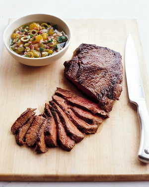 Seared Sirloin Steak with Onion Relish