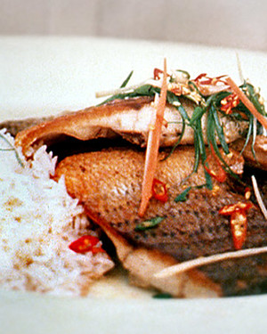 Striped Bass with Ginger-Lime Sauce