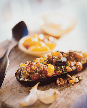 Couscous-Stuffed Eggplant