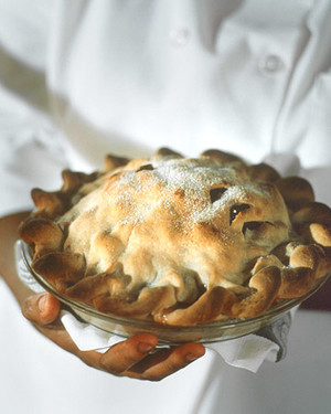 Pear and Tart-Cherry Pie