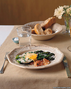 Fried Eggs with Prosciutto and Asparagus