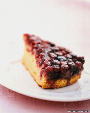 Cranberry-Maple Upside-Down Cake