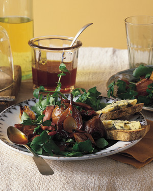 Bacon, Pear, and Blue Cheese Salad