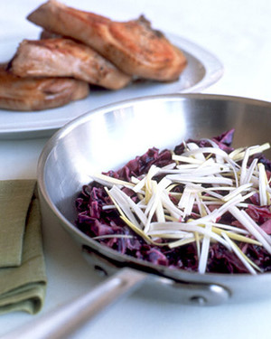 Braised Pork Chops with Cabbage