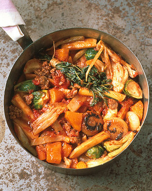 Savory Fall Stew with Sausage