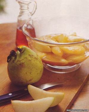 Pears Glazed with Maple Syrup