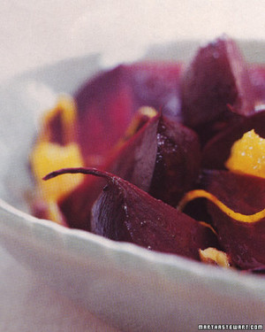 Roasted Beets with Orange and Ginger