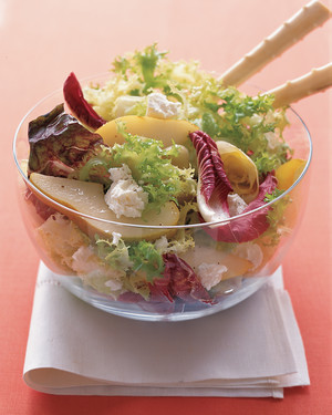 Chicories with Pears and Goat Cheese
