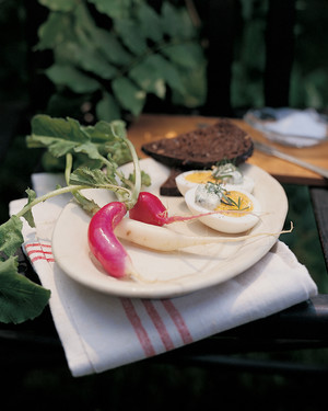 Hard-Cooked Eggs with Herb Mayonnaise
