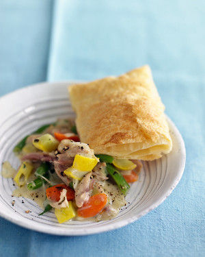 Chicken Potpie with Green Beans and Squash