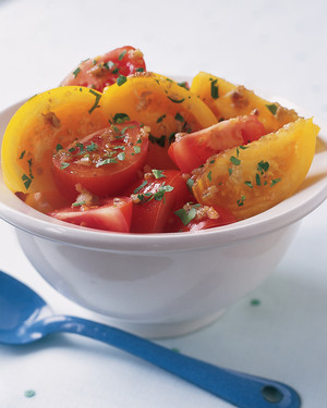 Tomatoes with Anchovy Dressing