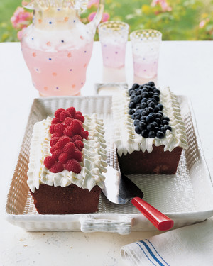 Berry Pound Cake with Whipped Cream