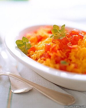 Saffron Rice With Tomatoes And Fresh Oregano Recipe Martha Stewart