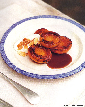 Caramelized Apricots with Almond Cream