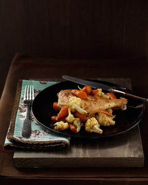 Chicken Legs with Carrots and Cauliflower