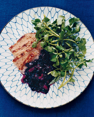 Pork Tenderloin with Blueberry Chutney