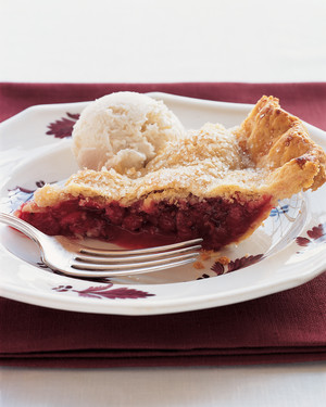 Red Currant and Raspberry Pie