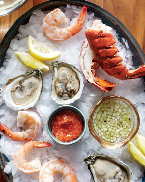 Plateau de Fruits de Mer with Two Sauces