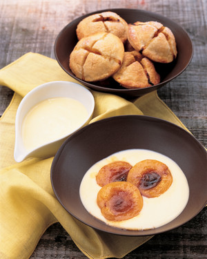 Broiled Apricots with Stirred Custard