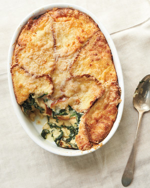 Spinach and Fontina Strata