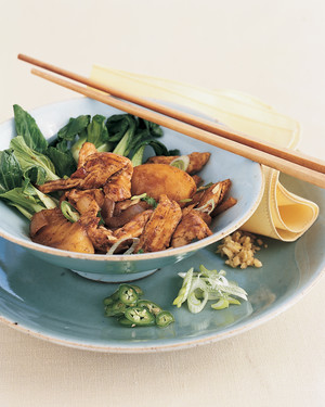 Hot-and-Spicy Chicken with Peaches