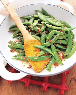 Sugar Snap Peas with Toasted Almonds