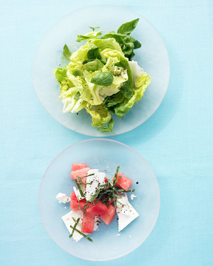 Watermelon Salad with Feta and Basil image