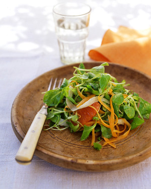 Mache with Fennel, Carrot, and Orange
