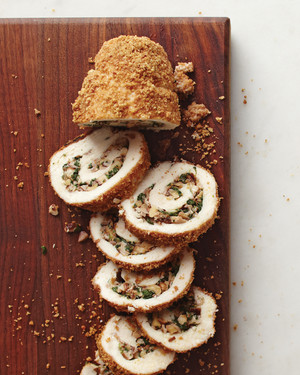 Walnut Stuffed Chicken Roulades