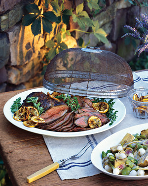 Grilled Leg of Lamb with Preserved Lemons