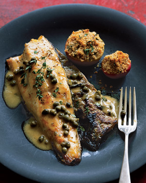 Baked Trout with Mustard and Lady Apples