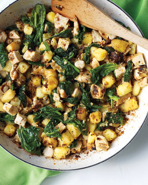 Chicken, Spinach, and Potato Hash
