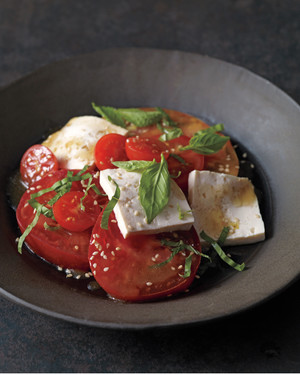 Tofu with Tomatoes, Basil, and Mint