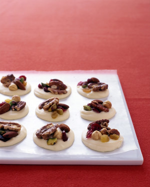 Easy White-Chocolate Clusters with Fruit and Nuts