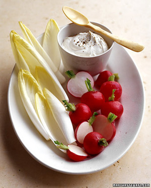 Crudites with Goat Cheese Dip