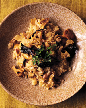 Risotto with Three Mushrooms