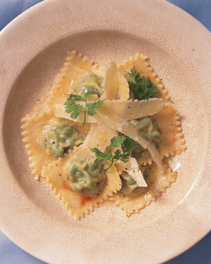 Ravioli with Peas and Chervil