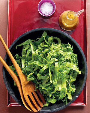 Romaine Salad with Anchovy Dressing