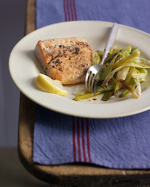 Salmon with Leeks